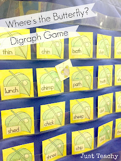 Digraphs, Where's the Butterfly? www.justteachy.blogspot.com