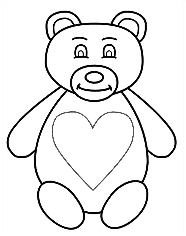 Ausmalbilder zum Ausdrucken: Ausmalbilder Teddybär zum Ausdrucken
