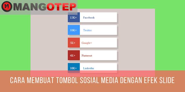 Cara Membuat Tombol Sosial Media dengan Efek Slide