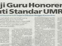 2018!! Minimal 2 Tahun, Gaji Honorer Standar UMR untuk Negeri maupun Swata