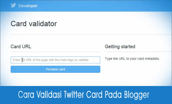 Validasi Twitter Card