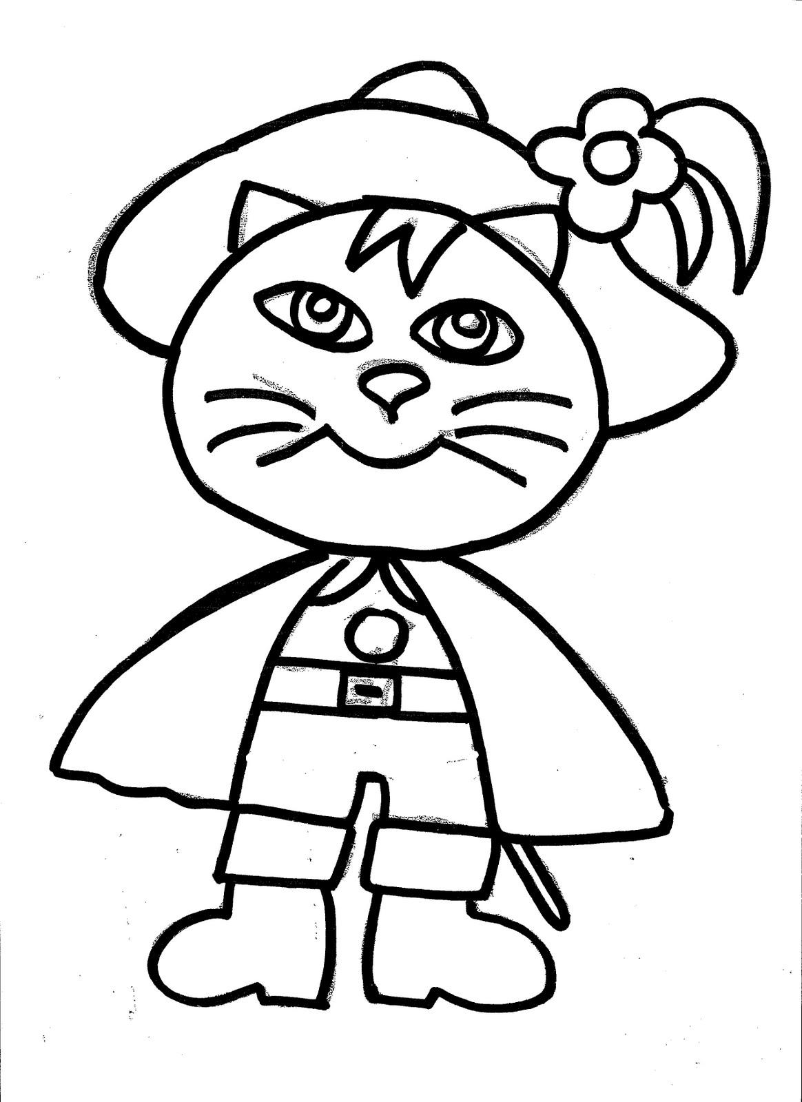 Dibujos Animados Para Colorear El Gato Con Botas Para Colorear