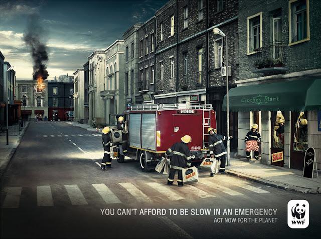 衝撃的でクリエイティブ、世界自然保護基金WWFの面白い広告 火事