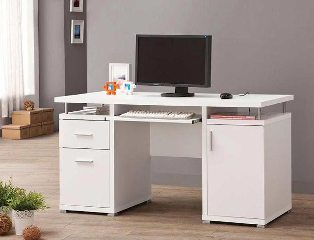 best buy used white office furniture desk for sale online
