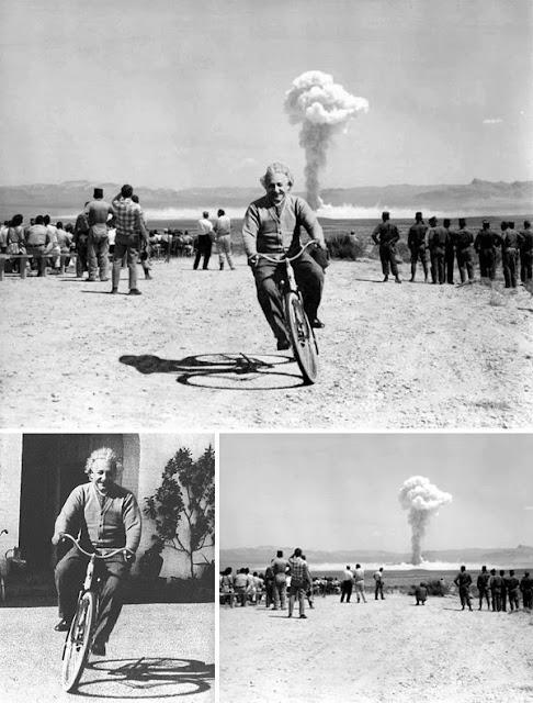 Einstein Mengendarai Sepeda Saat Bom Meledak