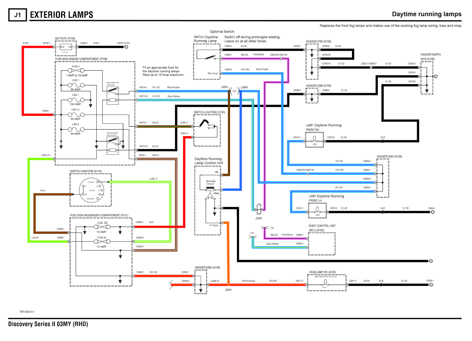 Land Rover Discovery 3 Radio Wiring Diagram 240 Volt Relay Discoverthat Daytime Running Lamps