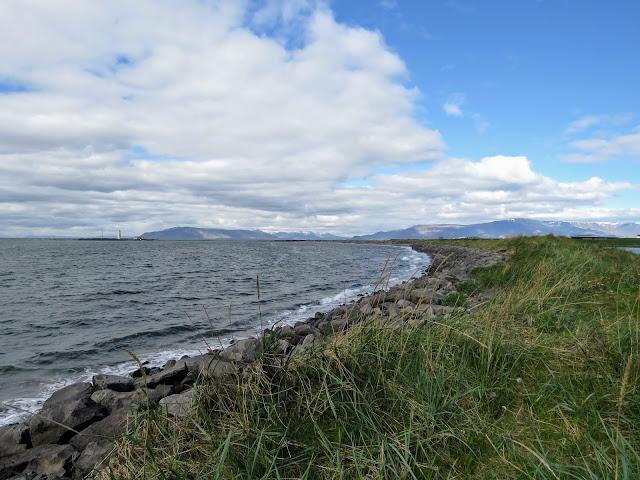 Rough waters on the west side of Seltjarnarnes Peninsula on a walk in Reykjavik