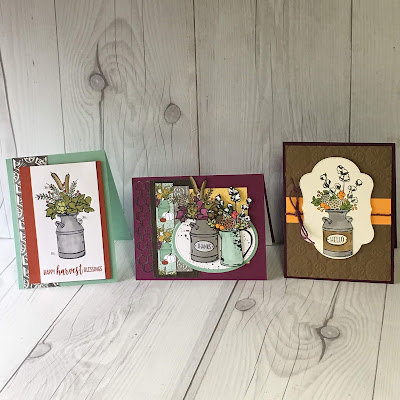 Three ideas for using COuntry Home Stamp Set
