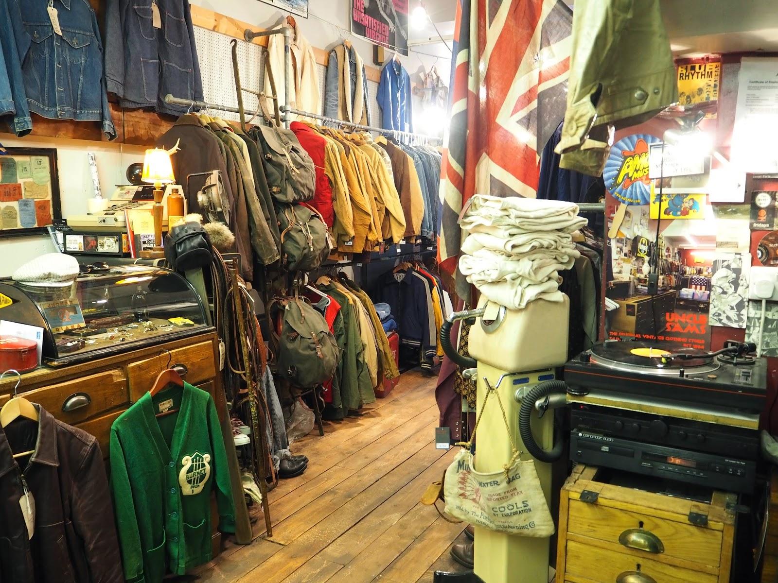 Uncle Sam's American vintage clothes shop Park Street Bristol