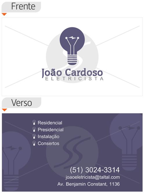cartoes de visita eletricistas lampada - Cartões de Visita para Eletricistas, Criativos e plugados
