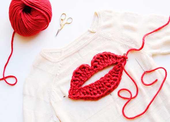 apliques, bordar, crochet, labores, costura, tejer, ganchillo
