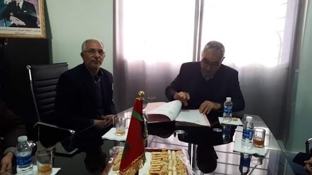 رئيس جماعة رياح يوقع إتفاقية شراكة مع مديرية التعليم لبناء ثانوية إعدادية