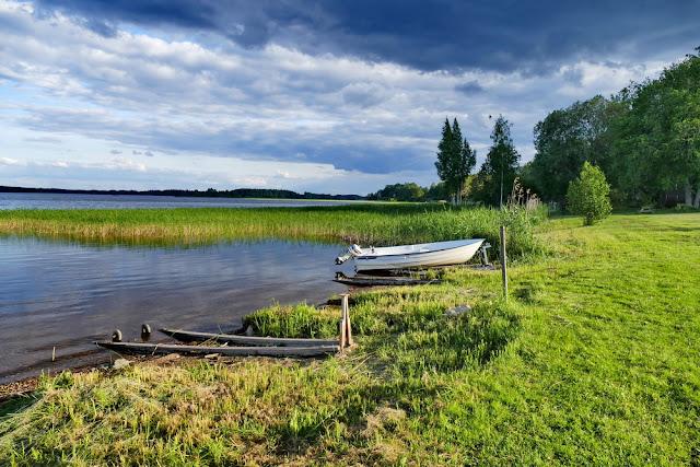 Schweden, See, Boote, grün, Wetter, Schwedenpause
