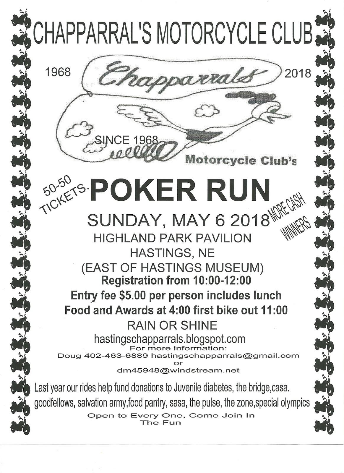 Pickens poker run 2018