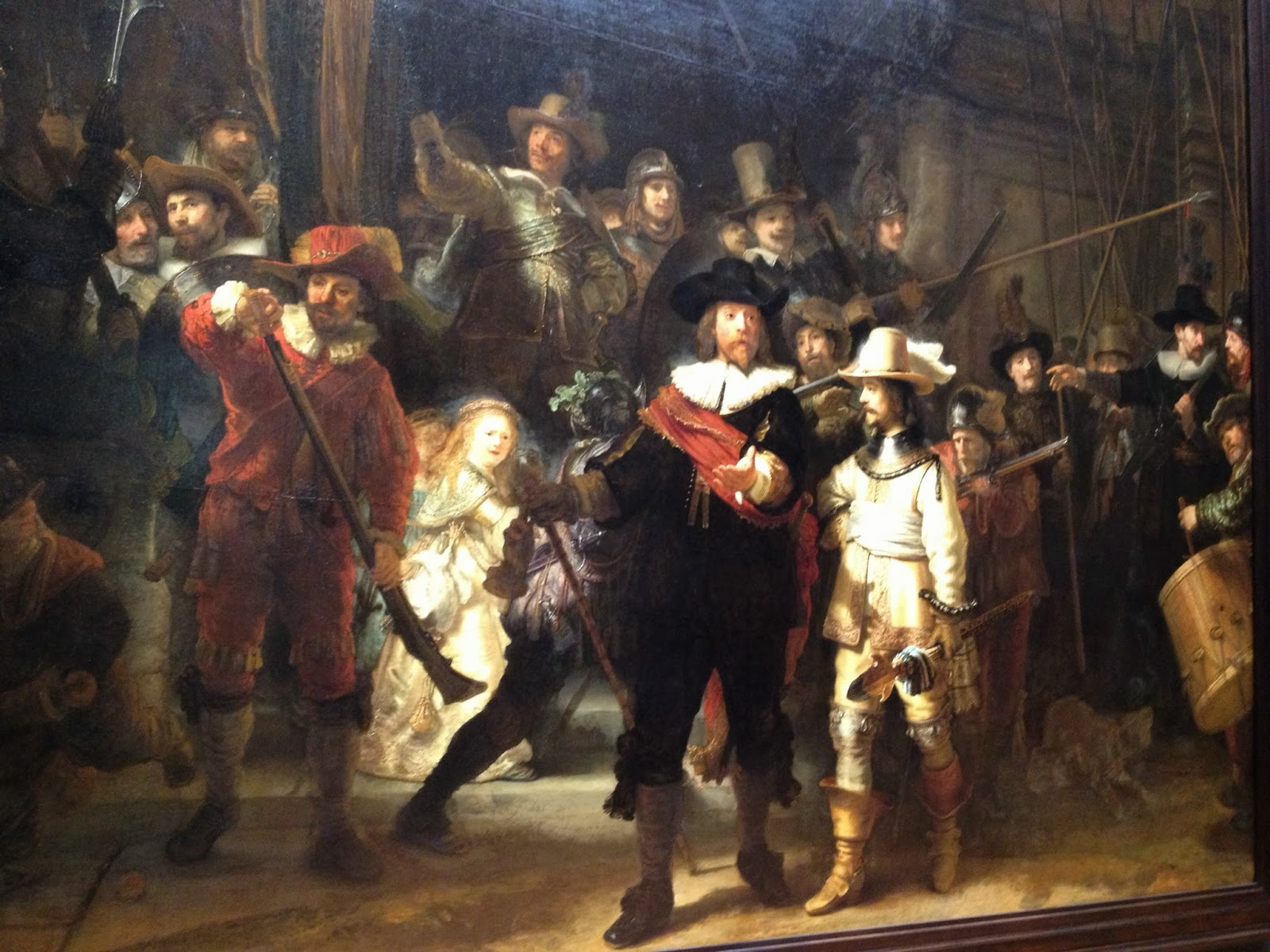 Amsterdam - Close up of Rembrandt's Night Watch