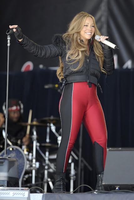 LifestyleBay: Mariah Carey hot photos in super tight red leggings