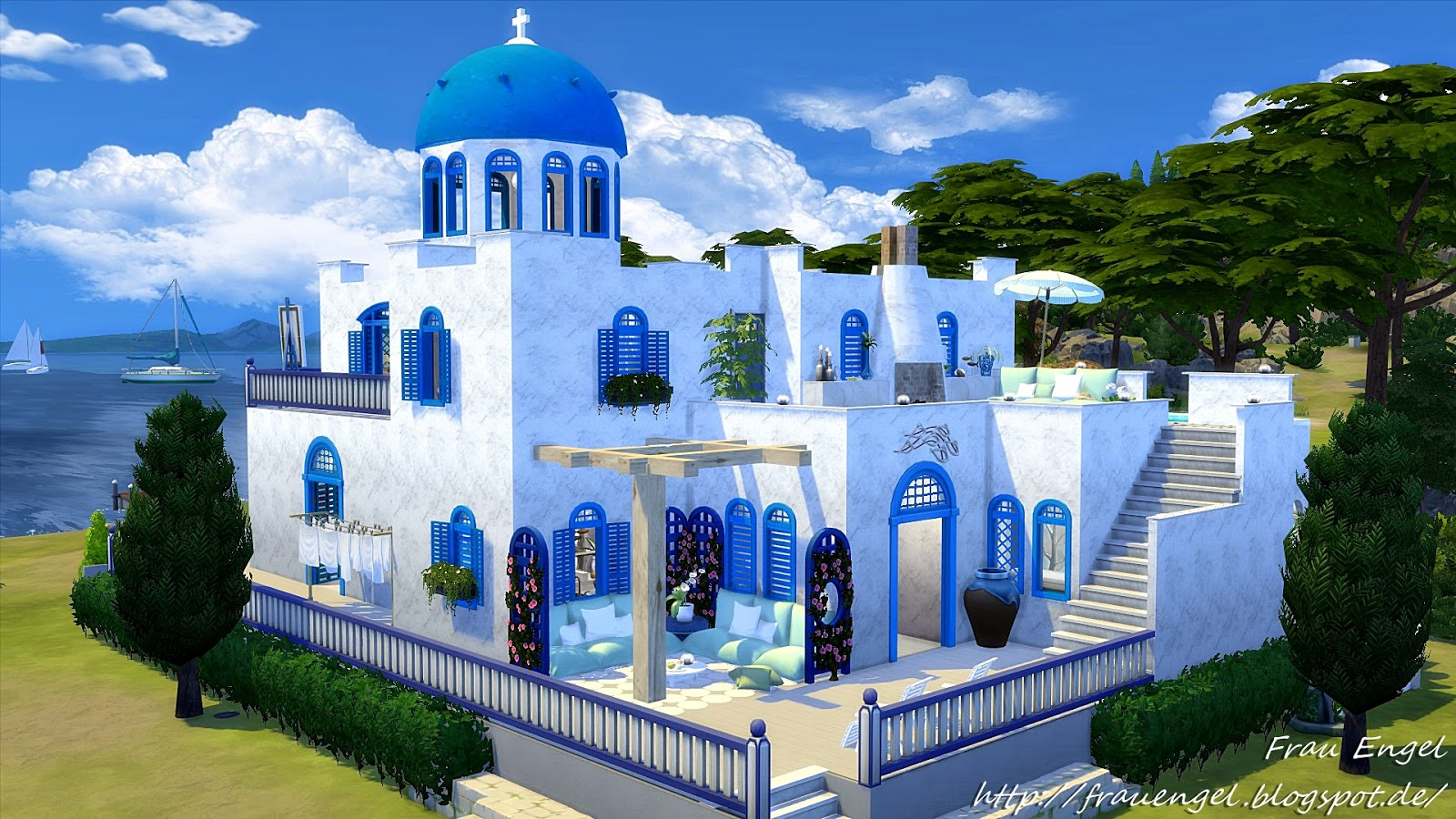 Sims 4 CC\'s - The Best: Villa Santorini by Frau Engel