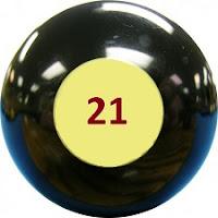 Bola de bingo con el número 21