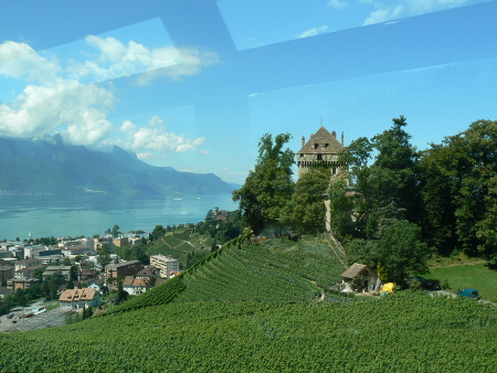 Rising above Montreux on the line to Les Avants and Rossiniere, Switzerland, photo by Victoria