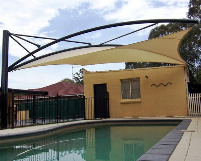 kanopi payung kolam renang