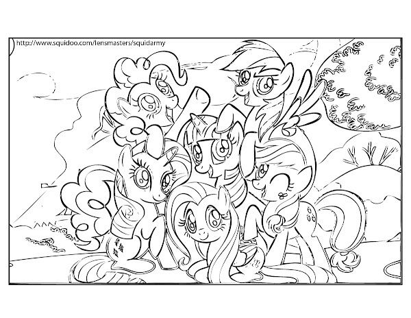 My little pony coloring pages print out for My little pony print out coloring pages