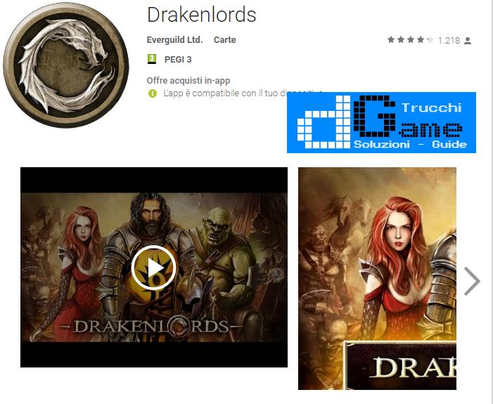 Trucchi Drakenlords Mod Apk Android v3.0.2