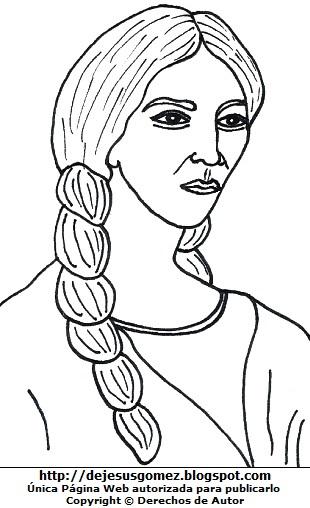 Dibujo de Micaela Bastidas para colorear o pintar. Ilustración de Micaela Bastidas de Jesus Gómez
