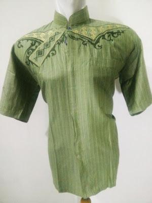 Baju Koko Katun Minyak Green