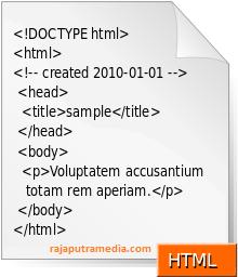 sejarah html