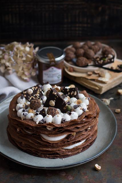 Gâteau de crêpes à la pâte à tartiner