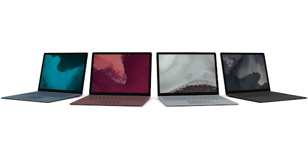 Microsoft Surface Laptop 2 colors