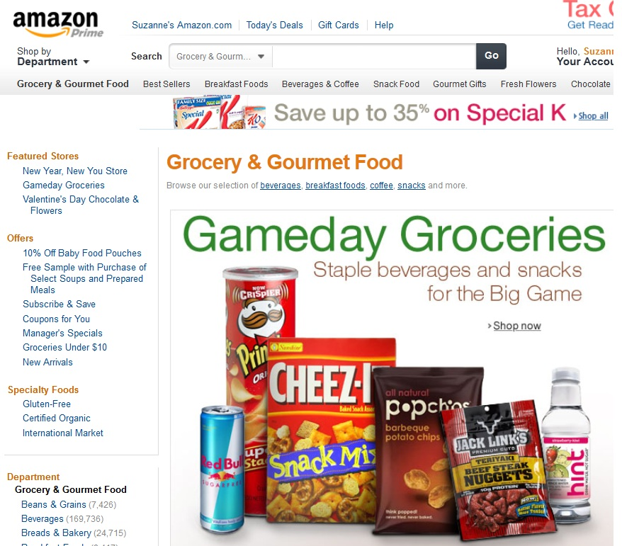 selling grocery with amazon