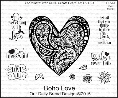 Our Daily Bread Designs Stamp set: Boho Love