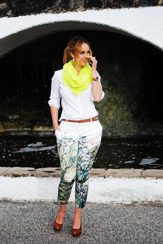 Nery hdez, neon, pantalones estampados, nowistyle
