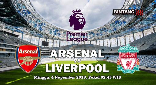Prediksi Arsenal vs Liverpool 4 November 2018.