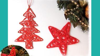 Adornos de Navidad de hilo - DIY