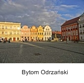 rynek w Bytomiu Odrzańskim, kamienice, piękne