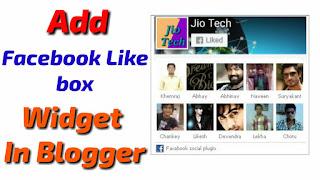 Add Facebook Like box Widget In Blogger