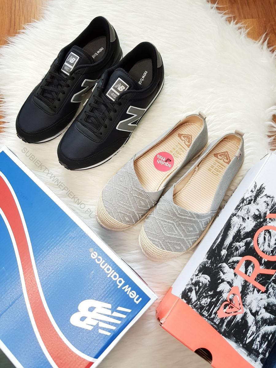 Nowe buty New Balance i Roxy