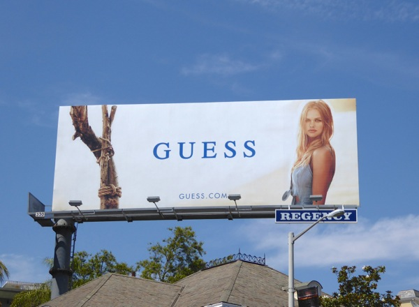 Guess Summer 2016 fashion billboard