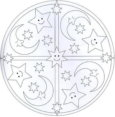 Mandala de estrellas y lunas