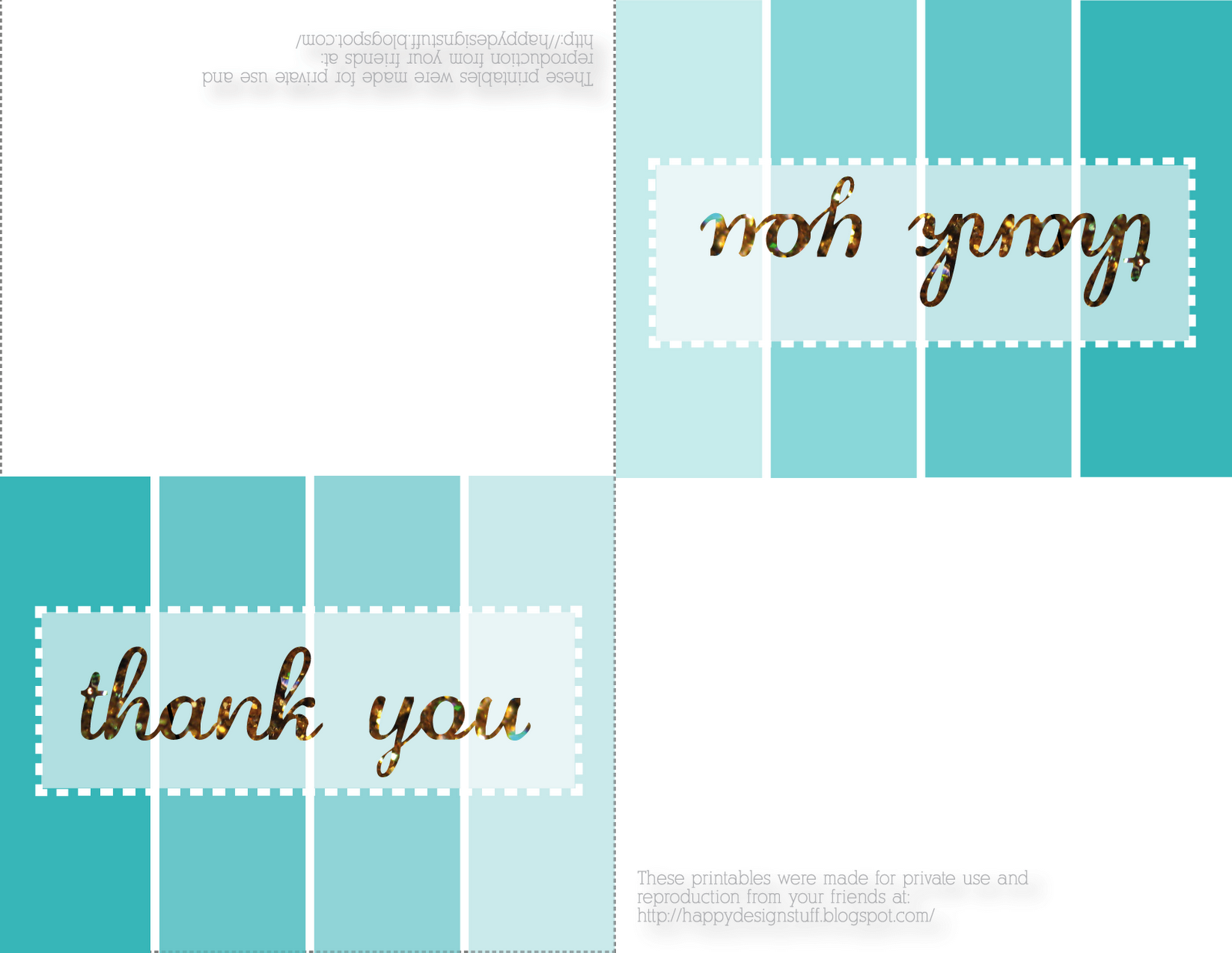 It's just a photo of Playful Thank You Printable Card