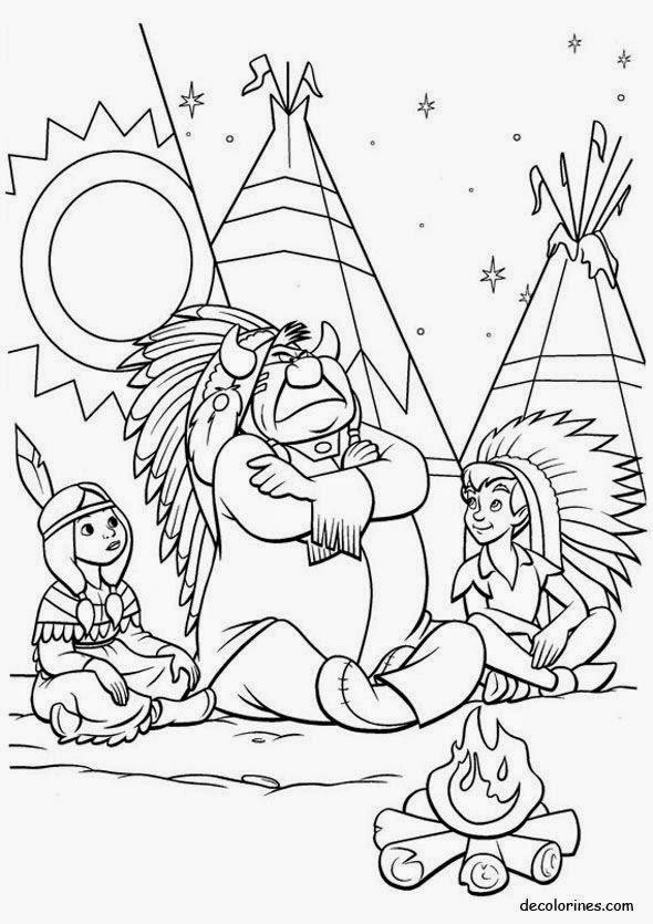 peter pan mermaid coloring pages - photo#33