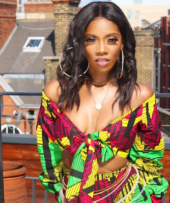 Tiwa Savage stuns in Ankara two piece