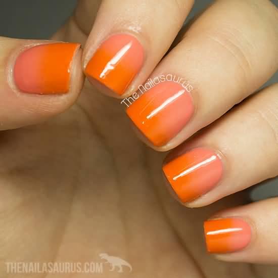 short orange manicures