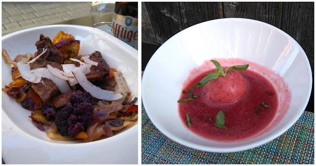 wok, boeuf angus, soupe de fraise, glace basilic, restaurant, MY RESTO, Nantes, bullelodie
