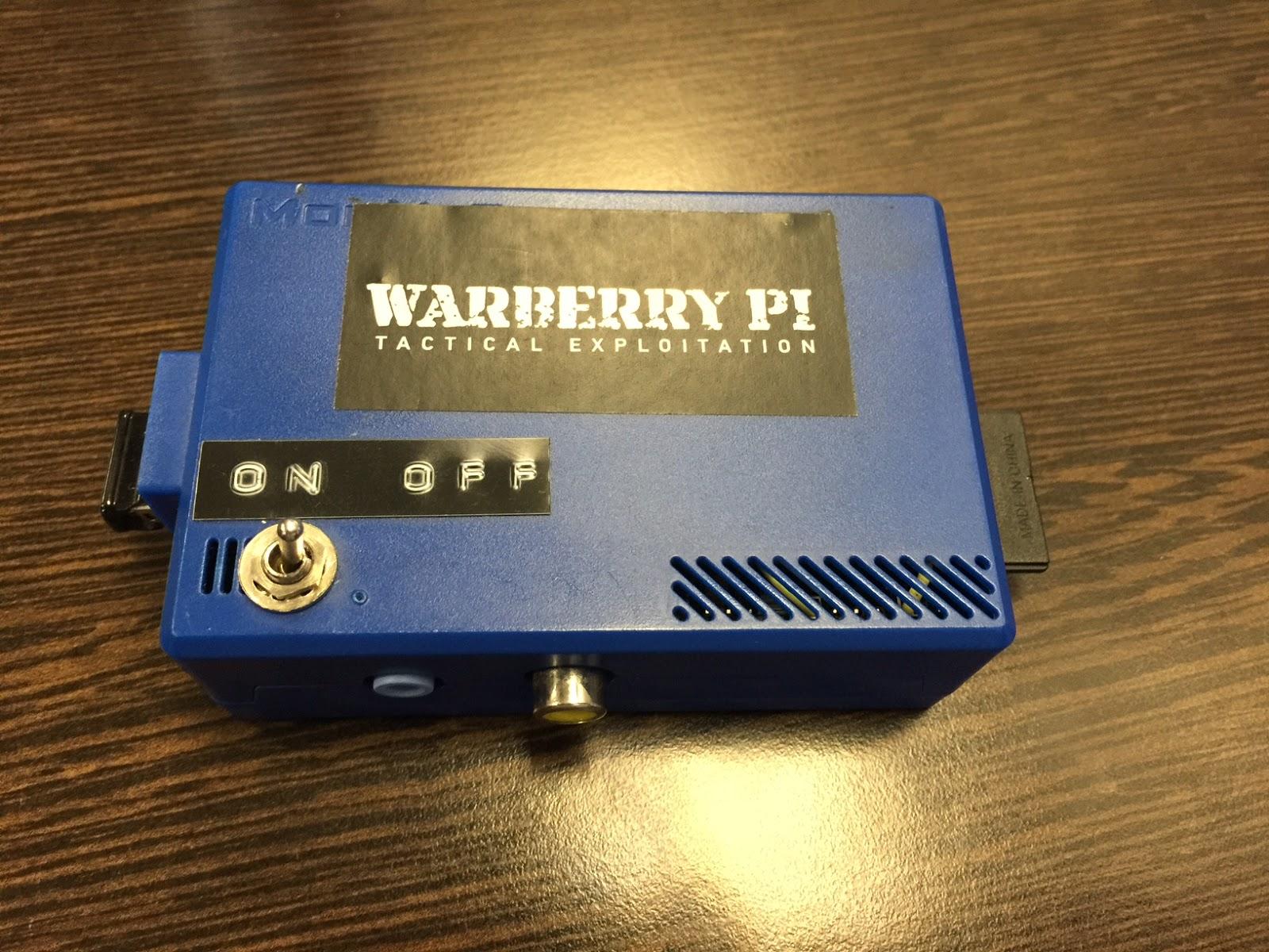 Warberry: convierte tu Raspberry Pi en una máquina de