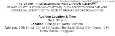 celebrity auditions