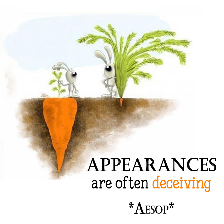 appearances are often deceptive Appearances are often deceptive meaning, definition, english dictionary, synonym, see also 'to all appearances/from all appearances/by all appearances',appearance',appear',appearance money', reverso dictionary, english simple definition, english vocabulary.