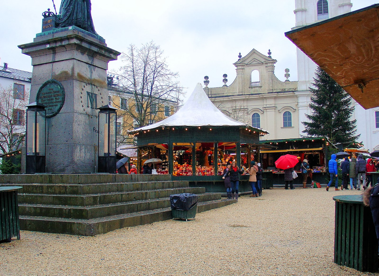 Welcome to the Christkindlmarkt or Passau Christmas market at St. Stephan's.